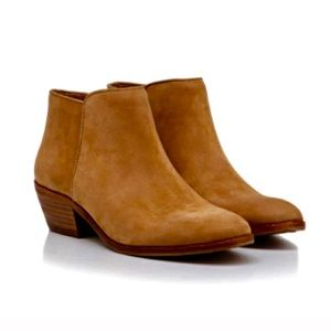 Sam Edelman petty suede leather brown booties